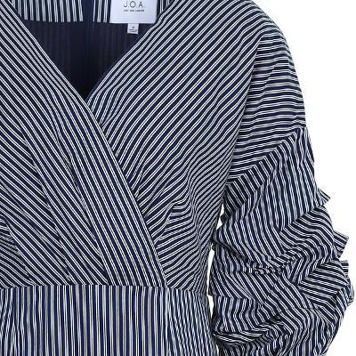 draping sleeve stripe dress 2